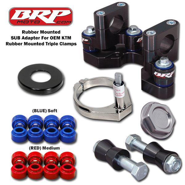 BRP RUBBER MTD SUB MOUNT DM-SUB KIT 2016-2018 KTM 125-450 SX/SXF/XC/XCF