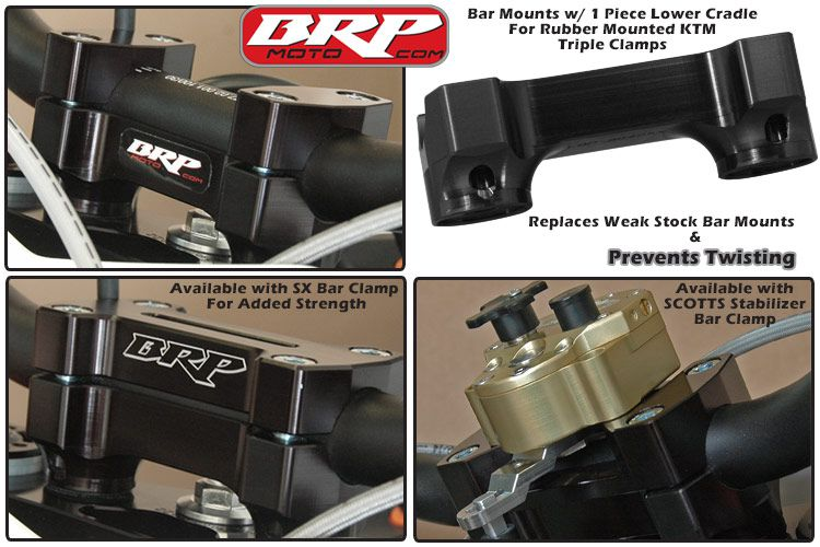 BRP 16-20 KTM Rubber Mounted Replacement Bar Mounts