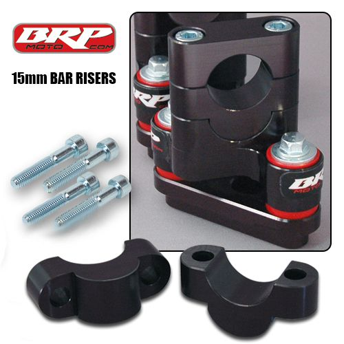 Dirt Bike Handle Bar Risers, 15mm Handle Bar Risers