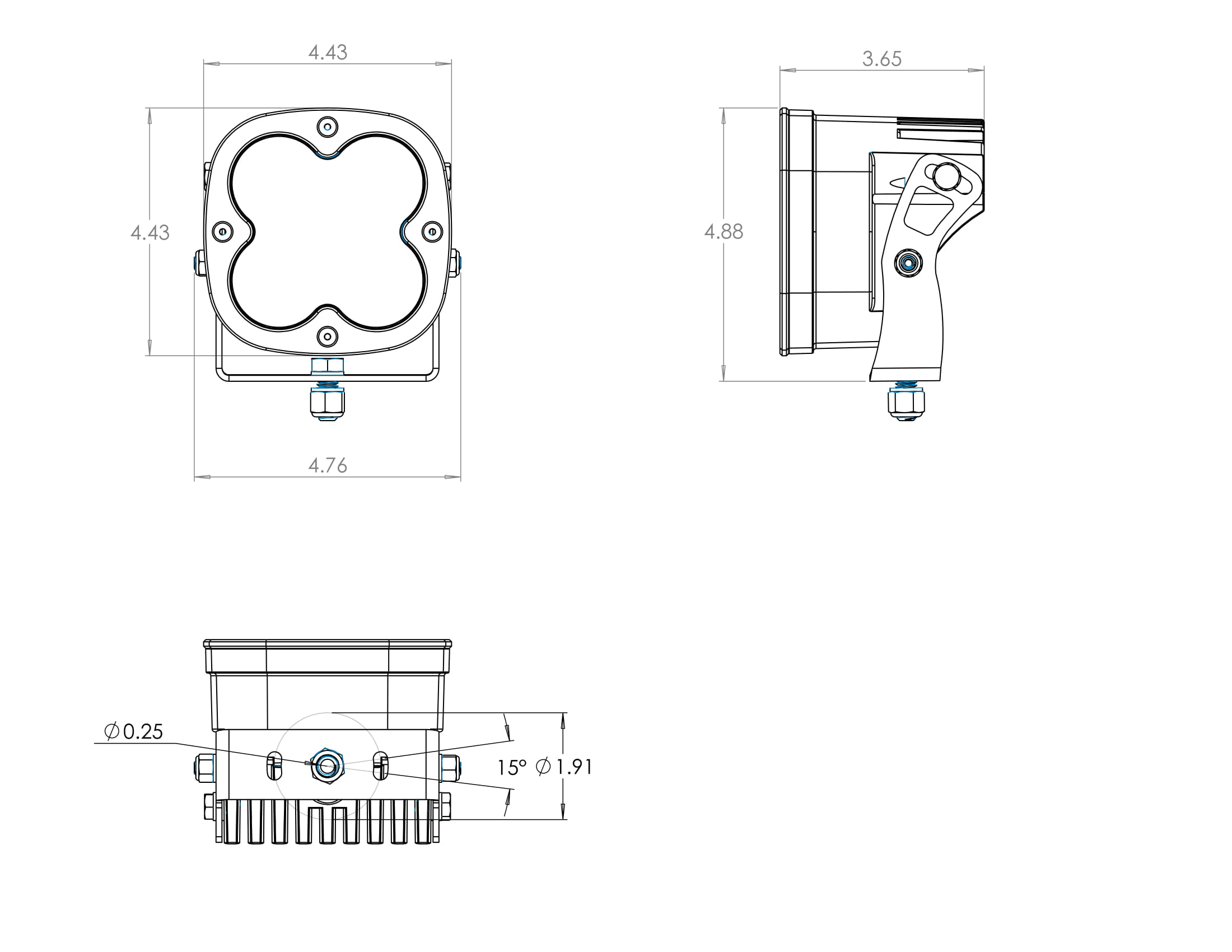 Baja Designs XL80, UTV LED Pod Light