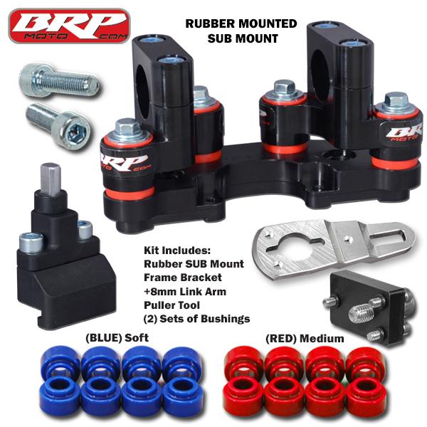 BRP Rubber Mounted SUB Mount & Frame Bracket 19-20 KTM 790 Adventure R